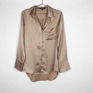 Lulus Long Sleeve Button Up Blouse